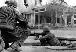 U.S. Marines fighting in Huế