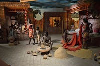 Diorama reconstruction of everyday life in Indus Valley Civilisation (National Science Centre, Delhi, India)