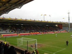 Firhill Stadium is the home of Partick Thistle, located in the Maryhill district of the city.