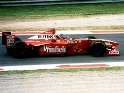 Jacques Villeneuve in the FW20 at the 1998 Italian Grand Prix