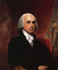 "James Madison, called the ""Father of the Constitution"" by his contemporaries"