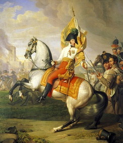Victorious Archduke Charles of Austria during the Battle of Aspern-Essling (21–22 May 1809)