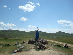 Mongolian shamanistic cairn