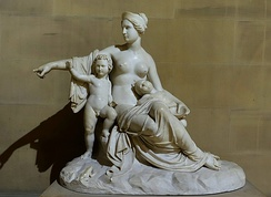 Leto with Apollo and Artemis, by Francesco Pozzi