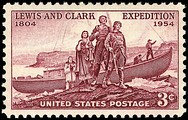 Lewis and Clark Expedition150th anniversary issue, 1954
