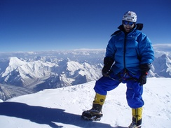 View from the top of K2