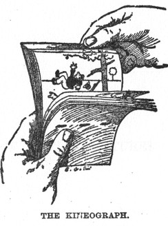 An 1868 illustration of the kineograph