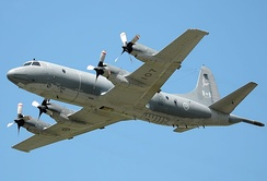 A Royal Canadian Air Force CP-140 Aurora. The aircraft is used by the RCAF as a maritime patrol aircraft.