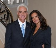 Crist and his former wife Carole Rome