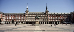 Plaza Mayor de Madrid (main square), although it was built in the 1619, it has been renovated considerably over the centuries
