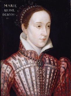 Mary, Queen of Scots wearing a rope of black pearls