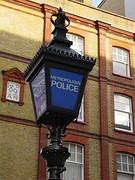 Many British and Commonwealth police stations have a blue lamp outside.