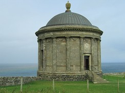 The Grade-A-listed Mussenden Temple, County Londonderry[46]