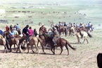 Riders in Mongolia during the Naadam festival