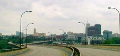 Downtown Akron from the All-America Bridge