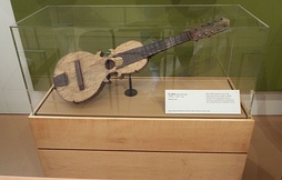 An ancient Cuatro (c. 1900 - 1915) on exhibit in the Musical Instrument Museum of Phoenix