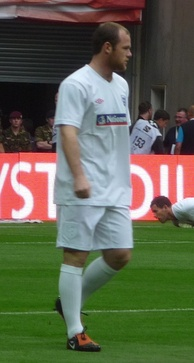 Rooney training with England in September 2009
