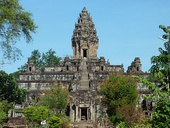 The Bakong is the earliest surviving Temple Mountain at Angkor, completed in 881 AD