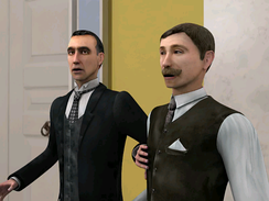 Holmes and Watson (right), as they appear in Sherlock Holmes: The Case of the Silver Earring video game