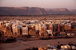 High-rise architecture at Shibam, Wadi Hadramawt‌