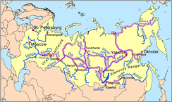Siberian river routes were of primary significance in the process of exploration.