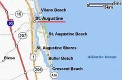 Major roadways, St. Augustine and vicinity
