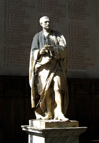 The statue of Sir Isaac Newton in the chapel, where scholars are typically installed