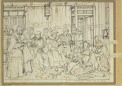 Study for a portrait of Thomas More's family, c. 1527, by Hans Holbein the Younger
