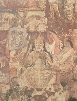 1 A section of the mural at Ajanta in Cave No 17, depicts the 'coming of Sinhala'.The prince (Prince Vijaya) is seen in both of groups of elephants and riders.2 The consecration of King Sinhala (Prince Vijaya) (Detail from the Ajanta Mural of Cave No 17).