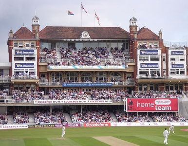 The Victorian Pavilion at The Oval cricket ground in London