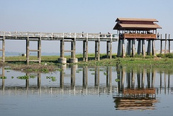 U Bein Bridge in Mandalay.