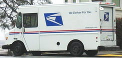 USPS service delivery truck