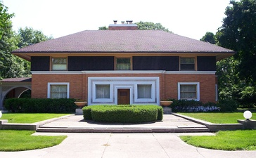 William H. Winslow House, by Frank Lloyd Wright, Oak Park, Illinois (1893-94)
