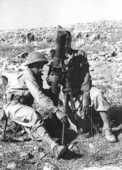 An Israeli mortar team outside Safsaf in October 1948.