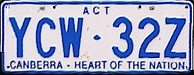 A.C.T. number plate