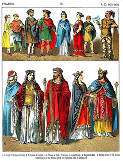 A 19th century depiction of different Franks (AD 400–600)