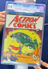 Action Comics #1, the comic that first featured Superman. Original copies fetch the highest of prices for comic books at auction.[69]