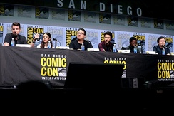 The cast and crew of Death Note at the 2017 San Diego Comic-Con