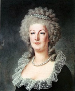 Marie Antoinette at the Tuileries Palace in 1790 (Pastel by Alexandre Kucharski)