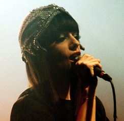 Alizée in 2010 singing at Point Ephémère lounge, in Paris.