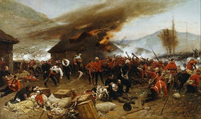 The Battle of Rorke's Drift in the Anglo-Zulu war