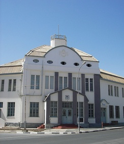 Railway station in Lüderitz, Namibia, 2006