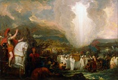 Benjamin West, Joshua passing the River Jordan with the Ark of the Covenant, 1800