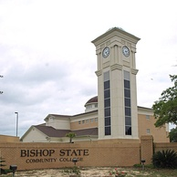 The Business Technology Center and clock tower at Bishop State Community College.