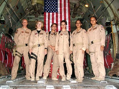 From 2005, the first all female C-130 Hercules crew to fly a combat mission for the U.S. Air Force[29]