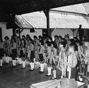 Angklung Orchestra, Indonesia in 1971.