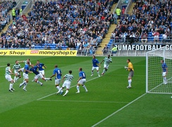 The official opening match of the Cardiff City Stadium between Cardiff City and Celtic