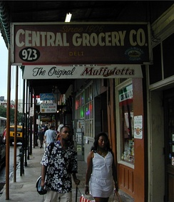 Central Grocery, an Italian-American grocery store in New Orleans where the muffuletta started in America. In 1906, Salvadore Lupo, owner of the Central Grocery, invented the muffuletta sandwich to feed fellow Sicilian immigrates. New Orleans has a historical Italian-American population. As of 2004 those identifying as of Italian descent were the largest ethnic group of Europeans in the New Orleans Metropolitan Area, numbering around 250,000.[1]