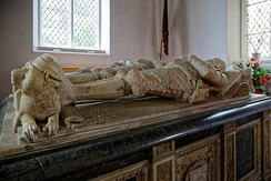 Monument to the 1st, 2nd and 3rd Radcliffe Earls of Sussex in St Andrew's Church, Boreham, Essex