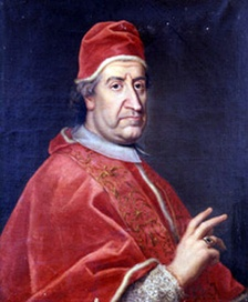 Pope Clement XI (1649–1721) promulgated the apostolic constitution Unigenitus Dei Filius in 1713 which condemned Quesnel and the Jansenists.